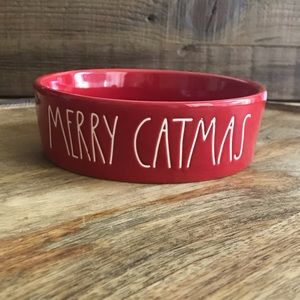"Rae Dunn ""Merry Catmas"" Christmas Cat Bowl 🐱"